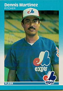 1987 Fleer #324 Dennis Martinez Montreal Expos MLB Baseball Card NM-MT