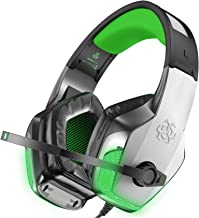 BENGOO V-4 Gaming Headset for Xbox One, PS4, PC, Controller, Noise Cancelling Over Ear Headphones Mic, LED Light Bass Surr...