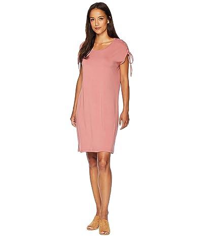 Vince Camuto Lace-Up Shoulder Dress (Claret Shadow) Women