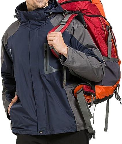 L'hiver en Plein Air Chaude Deux Ensembles De Vestes Imperméables Coupe-Vent Veste d'alpinisme à Capuchon