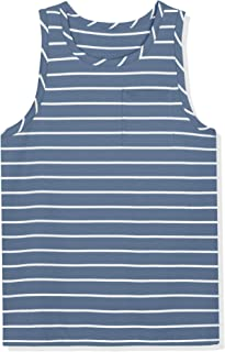 Sponsored Ad - Lars Amadeus Men's Striped Vest Round Neck Color Block Sleeveless Basic Tank Top with Pocket