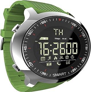 JessFash Reloj inteligente inteligente Deporte Podómetros a prueba de agua Mensaje recordatorio Actividad Rastreador de ejercicios Contador de pasos Natación al aire libre Reloj inteligente Cronómetro