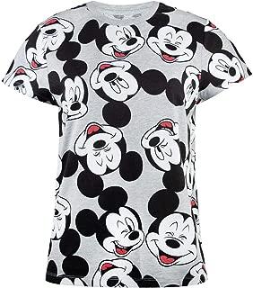 Disney Mickey Minnie Mouse All Over Print Design Women's/Ladies T-Shirts S - XXXL