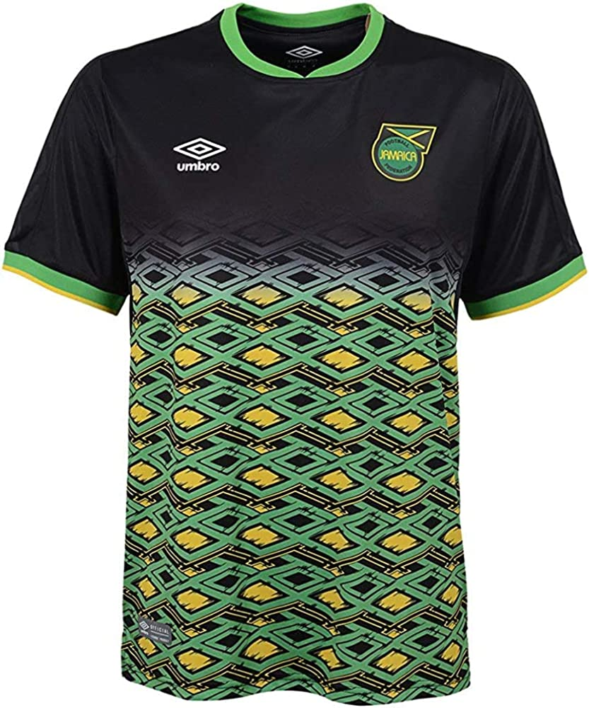 Black//Yellow//Green Umbro Mens Jamaica National Team Away Soccer Jersey