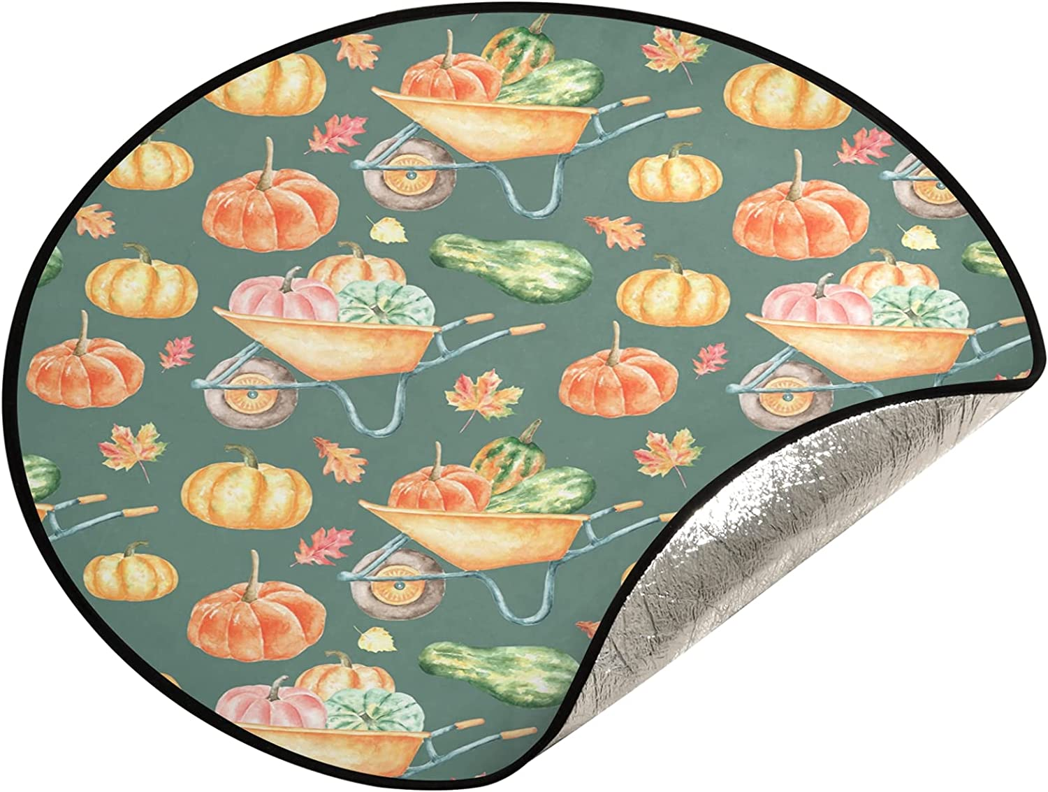 JUMBEAR Spring Free shipping anywhere in the nation new work Thanksgiving Pumpkins Tree Mat Stand Christma Waterproof
