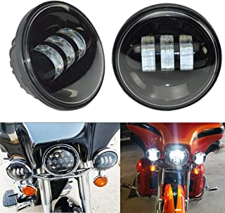 4.5 Inch LED Driving Fog Lights Black Passing Lights Auxiliary Spot Lamps For Harley Davidson Electra Glide Road King Ultra Classic