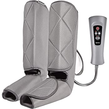 RENPHO Leg Compression Massager for Circulation and Relaxation, Foot and Calf Massager Machine with Handheld Controller 5 Modes 4 Intensities for Muscles Pain Relief, Over Wide Size Leg Wraps Home Use