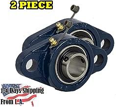 2 Piece- 1 inch 2 Bolt Pillow Block Flange Bearing, UCFL205-16, Self-Alignment, Brand New