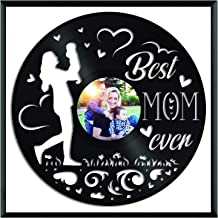 VinylshopUS - Best Mom Ever Vinyl Wall Art with Framed Unique Art Design Gift for Baby Children | Home and Kids Room Decoration
