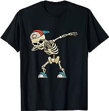 Halloween shirts for Boys Kids Dabbing Skeleton Tee Costume T-Shirt