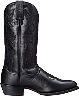 MAIAMY Bottes de Cow-Boy Automne Hiver pour Hommes sans Lacet Chaussures en Cuir de Loisirs de Plein air légères Chaussure...