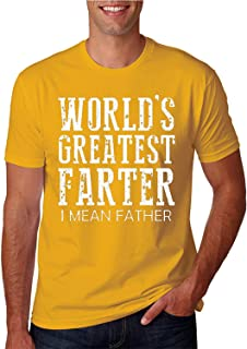 ZoDong Adult Unisex Worlds Greatest Farter I Mean Father Funny Novelty T-Shirt