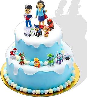 Taartfiguren, 12-delige minifiguren, taartdecoratie, cupcake-figuren, cake-topper, taartdecoratie, verjaardagsfeest, cupca...