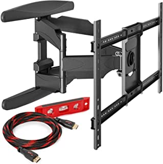 """Heavy-Duty Full Motion TV Wall Mount - Articulating Swivel Bracket Fits Flat Screen Televisions from 42"""" to 70"""" (VESA 400 x 600 Compatible) – Tilt Swing Out Arm with 10' HDMI Cable (Renewed)"""