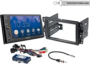 Sony XAV-AX1000 Double Din Radio Install Kit With Apple CarPlay, Sirius XM Ready, NO CD Player Fits 2007-2013 Silverado, Avalanche (Retains steering wheel controls)