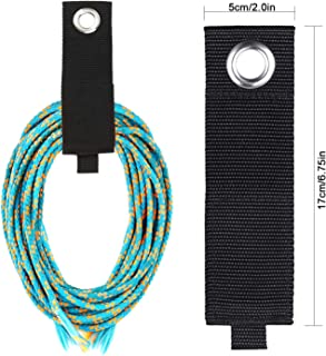 Becky Heavy Duty Storage Straps,12 Packs of Extension Cord Organizer Hook and Loop Straps, Holder Organizer, Cable Straps for Hoses, Shops, RVS, Garage Organizers and Storage(Black)
