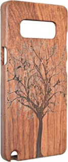 PhantomSky Wooden Case Compatible for Galaxy Note 8, Premium Quality Handmade Natural Wood Cover- Rosewood Christmas Tree