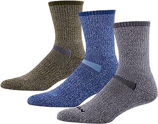 MK MEIKAN 66.6% Merino Wool Hiking Socks, Men's Trekking Cushion Crew Socks 3 Pairs