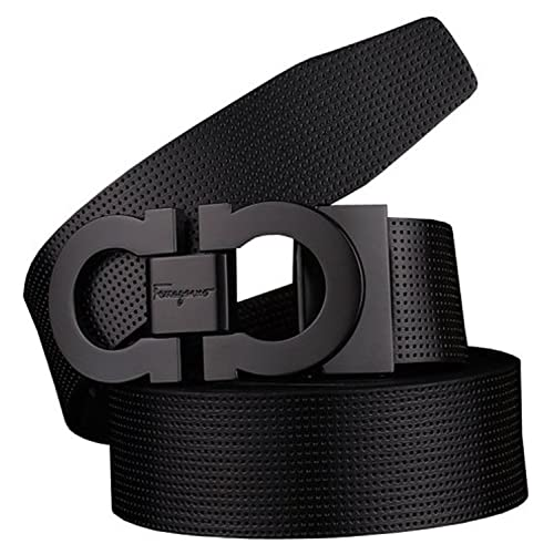 e614a4366 Guan's Men's Smooth Leather buckle belt 35mm Leather up ...