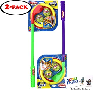 "22"" Long Water Golf Club Toy Set Pool Golf Sports for Kids Mini Water Golf Balls and Hoop Ring (Assorted Colors) with 2 GosuToys Stickers"