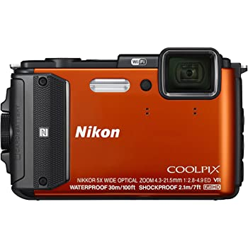 Nikon - Coolpix AW130 16.0-Megapixel Waterproof Digital Camera - Orange