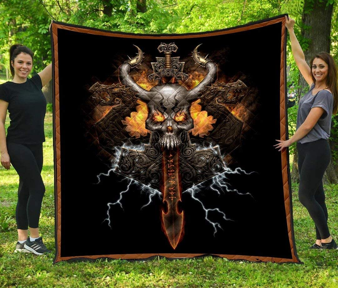 Personalized Viking Beautiful Quilt 5% OFF to Daughter Son Kids Best Ranking TOP14 De
