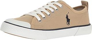 Polo Ralph Lauren Kids Camden Khaki Canvas W/Navy PP Sneaker