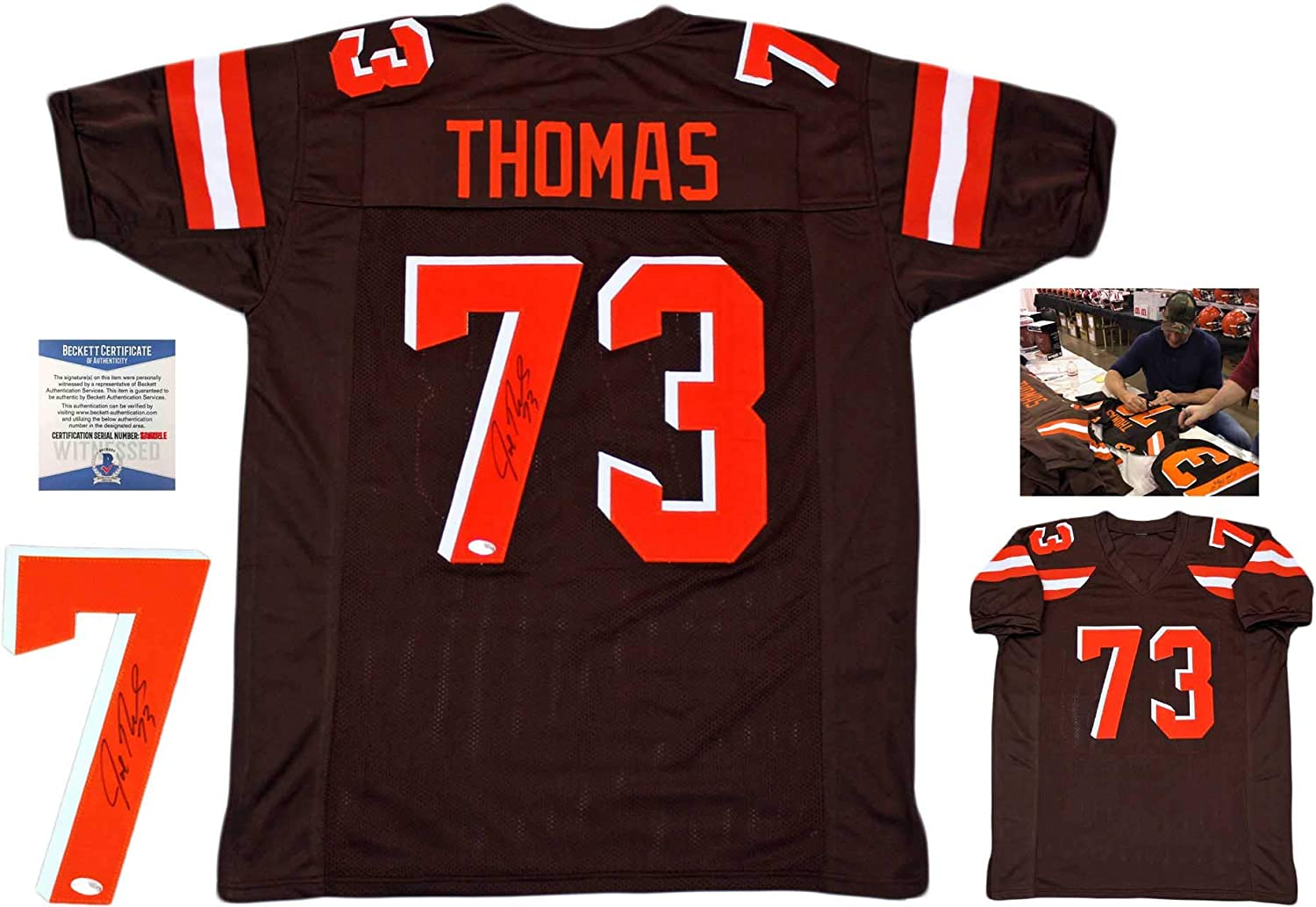 Joe Thomas Autographed Signed Jersey - Brown - Beckett Authentic ...