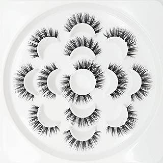 3D Wispies False Eyelashes Natural Long Lashes Bulk Extensions With Volume for Girl/Men Makeup Handmade Soft Eyelash,7PACK
