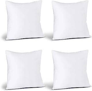 Utopia Bedding Throw Pillows Insert (Pack of 4, White) -...