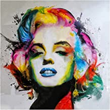 MXJSUA DIY 5D Diamond Painting by Number Kits Full Round Drill Rhinestone Picture Arts Craft for Home Wall Decor Marilyn Monroe 30x30 cm