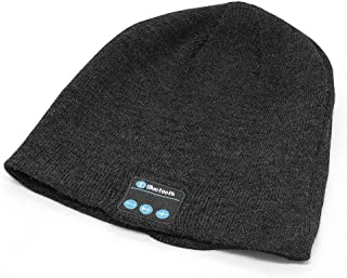 Bluetooth Beanie Hat,Wireless V5.0 Superior Music Skully Beanie Hat Washable Knitted Cap with Headphone Headset Earphone M...
