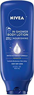 NIVEA Nourishing In-Shower Body Lotion - Non-Sticky For Dry to Very Dry Skin - 13.5 oz. Bottle