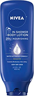 Beiersdorf Inc Nivea Body In Shower Nourishing Body Lotion For Dry Skin, 13.5 Fluid Ounce