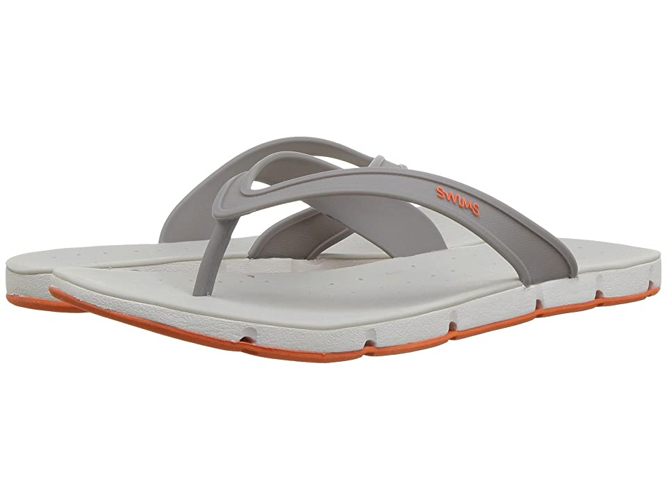 SWIMS Breeze Thong Sandal (Gray/White/Orange) Men