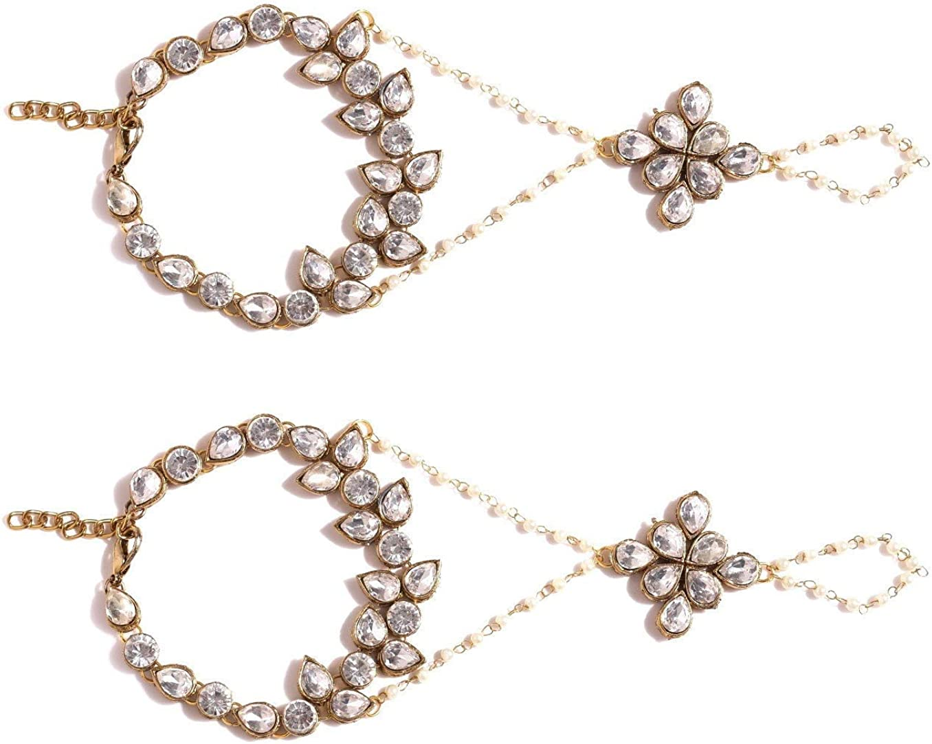Crunchy Fashion Metal Brass Bracelet for Women