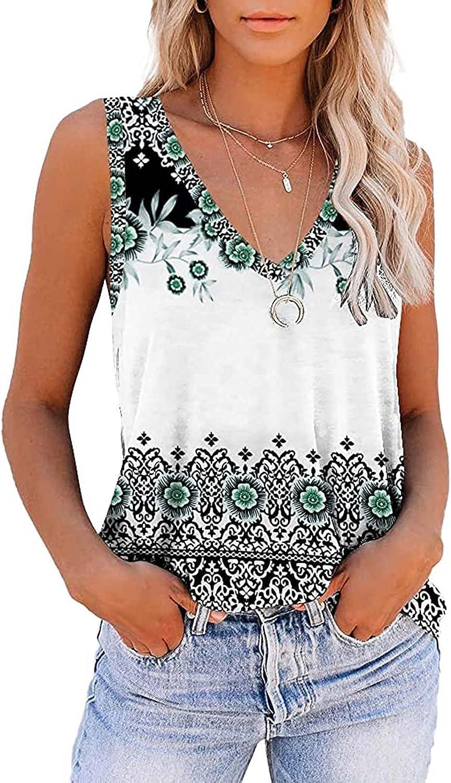 Tank Top for Women, Tank Tops Womens Fashion Gradient Printed Yoga Workout Tshirts Sleeveless Tank Tees Shirts Blouses Vest