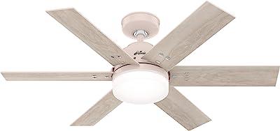 Hunter Fan Company 51207 Pacer Ceiling Fan, 44, Blush Pink