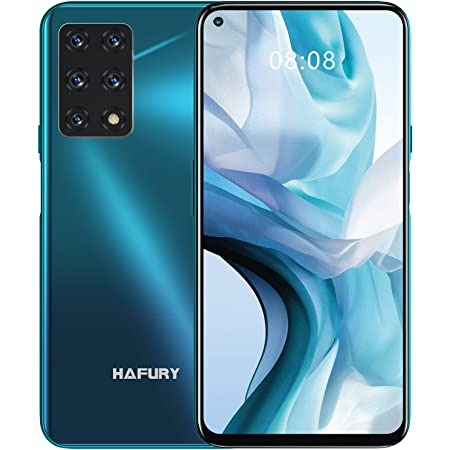 HAFURY Smartphone GT20, Teléfono Móvil 4G 8GB+256GB Pantalla 6,4'' Cámara 48MP+32MP Batería 4200mAh, 1080P Android 10 Dual SIM Procesador Octa-Core Desbloqueo Facial NFC OTG Verde Gradiente