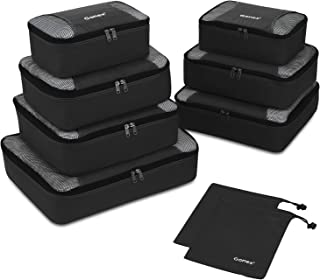 Gonex Rip-Stop Nylon Travel Organizers Packing Bags Black