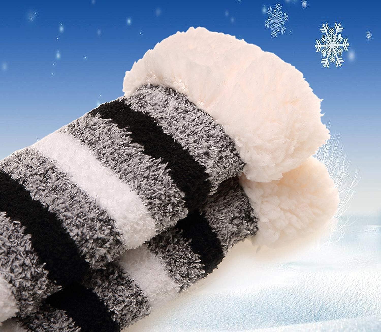 de punto con dibujos animados muy suaves Calcetines de invierno para mujer y hombre Kokmn