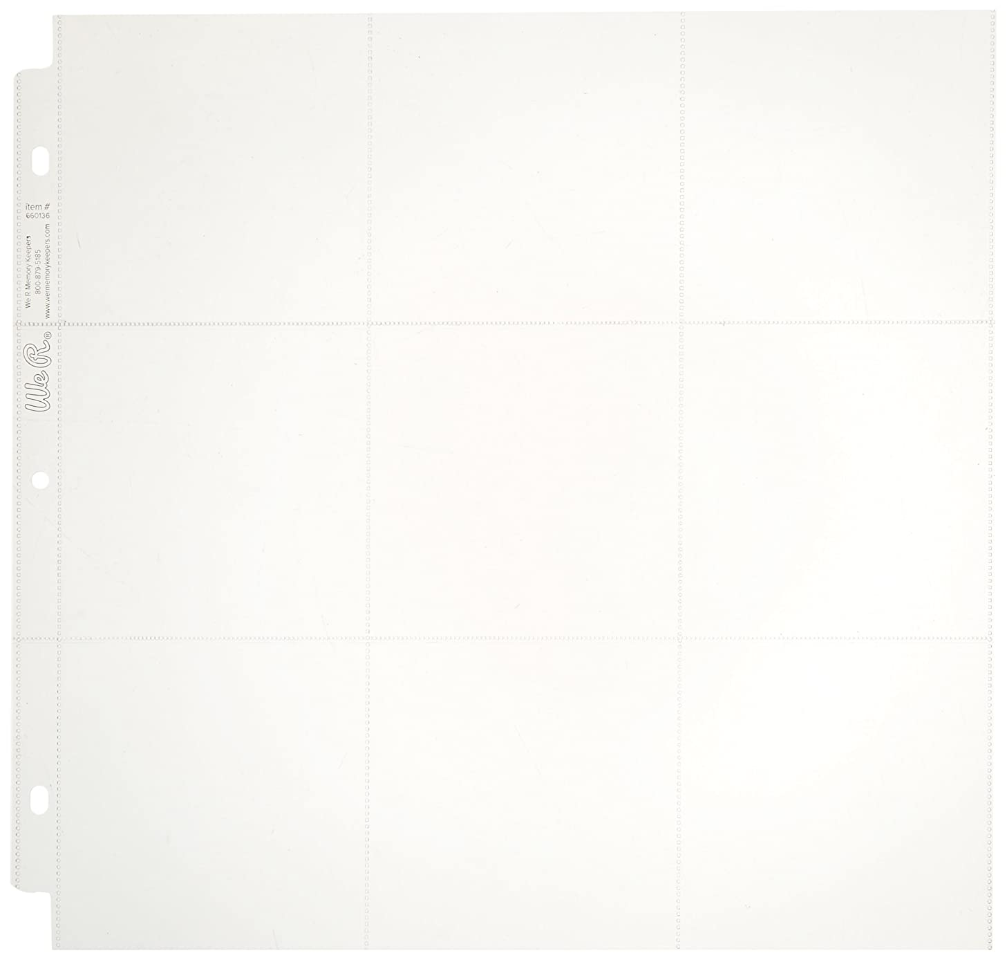 We R Memory Keepers 12 x 12-inch 3-Ring Album Page Protectors Multipack Includes 10 Sheets in Various Sizes