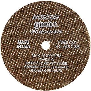 Norton 547-66243510630 Gemini Aluminum Oxide Type 01 Cutoff Wheel, 4, 0.035, 60 Grit, 3/8, 19100 rpm (Pack of 25) by Norto...