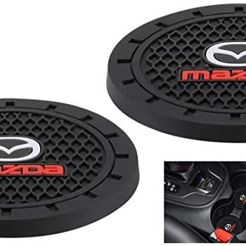 HEY KAULOR 2Pcs 3 inch Vehicle Travel Auto Cup Holder Insert Coaster Mat for BMW Jeep Honda Toyota Audi