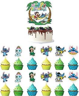 Awyjcas 25 pcs Lilo and Stitch Party Decoration,Lilo and Stitch Cake Topper.Lilo and Stitch Cupcake Topper, Baby Shower Pa...