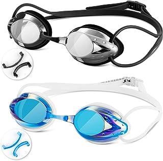 Swim Goggles - Swimming Goggles with Nose Clip + Ear...