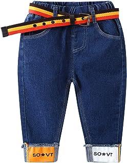 LAPLBEKE Jeans Bambino Pantaloni Ragazzi Jean hip hop bambini 2-10 anni