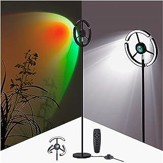 Lampadaire Sur Pied Salon, LED Lampadaire Dimmable avec Télécommande Lampe Salon Sur Pied Moderne Lampadaire RGB Couleur M...