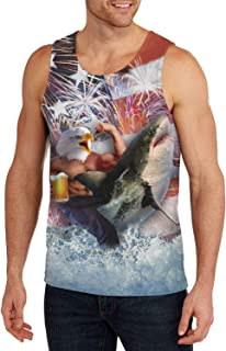 Belovecol Mens Tank Tops 3D Cool T Shirts Sleeveless Crewneck Graphic Tees S-XXL