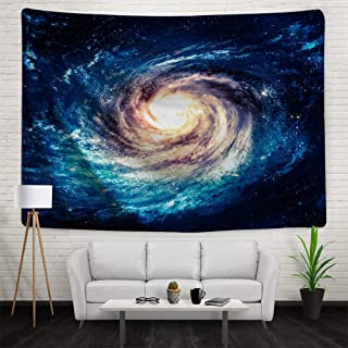 IMEI Nebula Galaxy Stars Wall Tapestry, Multi Purpose Outer Space Wall Hanging Mural Art Decoration Tapestry Sofa Cover Beach Blanket Dorm Decor (51X60 Inch, Spiral Galaxy Space and Stars)